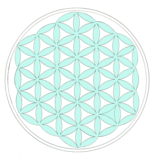 Flower of life colored